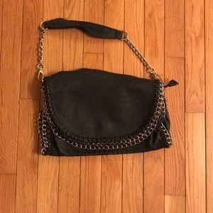 Urban Expressions Black Vegan Leather Handbag